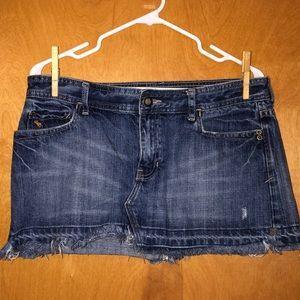 A&F Low Rise Denim Mini Skirt